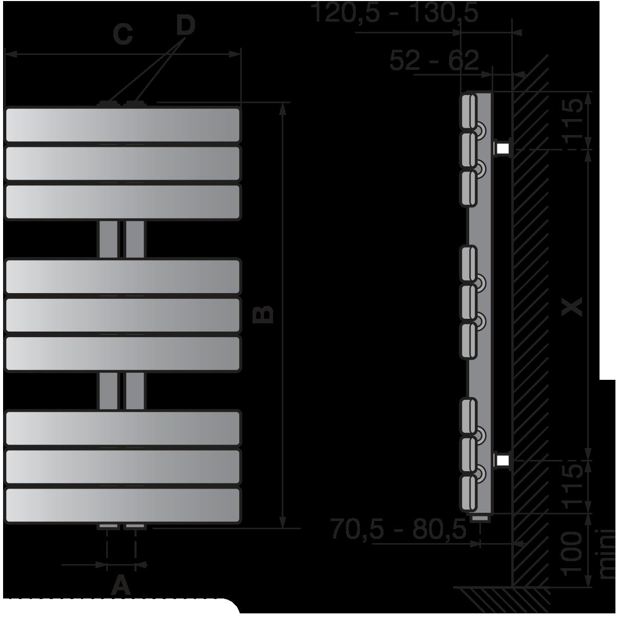 Hauteur radiateur par rapport au sol chappee radiateur - Hauteur d un rideau par rapport au sol ...