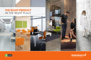 Brochure - The right product on the right place
